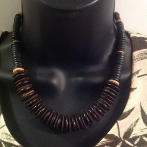 Jewelry - Awesome Genuine Wood Discs Necklace
